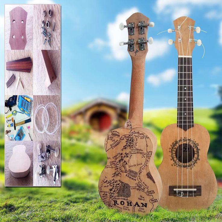 Homemade fully functional soprano ukulele