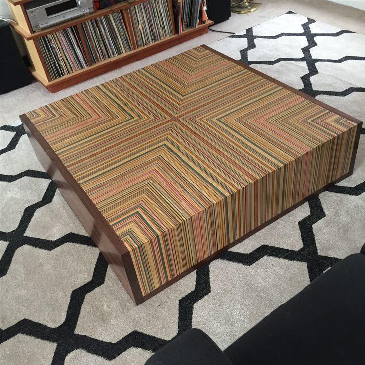 Recycled Skateboard Modern Coffee Table