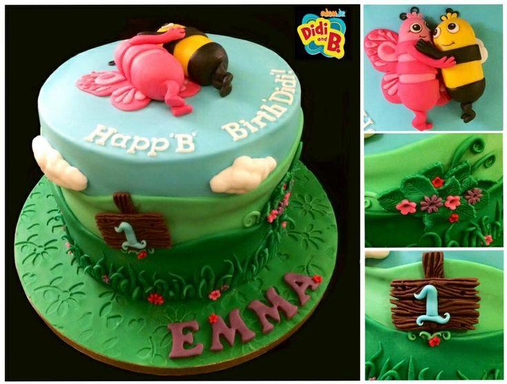 Madagascan vanilla sponge cake, Didi B theme for a 1st birthday! :-)