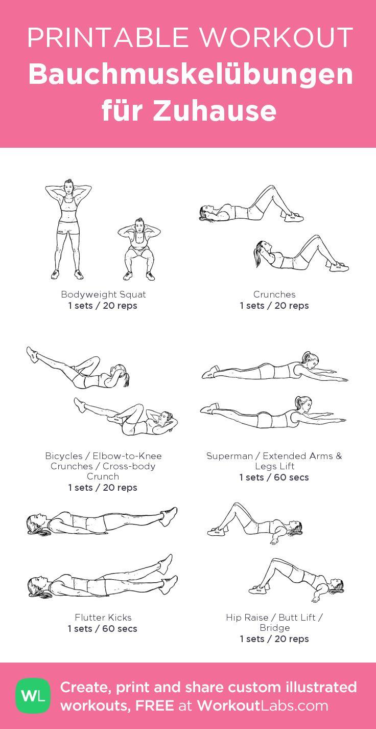 Bauchmuskelübungen für Zuhause