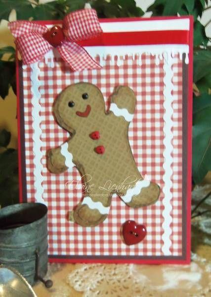 card christmas gingerbread cookie man happy holidays sweet treats - kort jul julekort kagemænd honningkage mand honning kage mænd glædelig jul god jul
