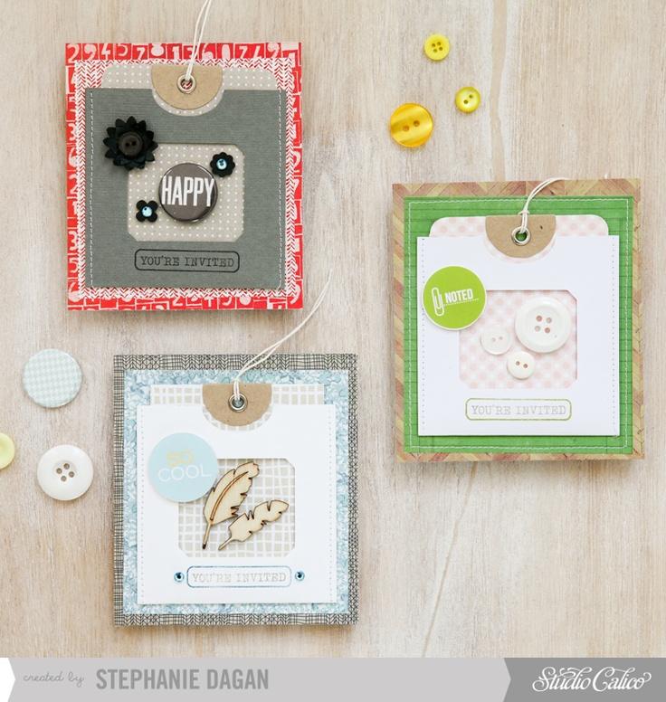 You're invited cards - Studio Calico November Cards kit by Stephanie Dagan -