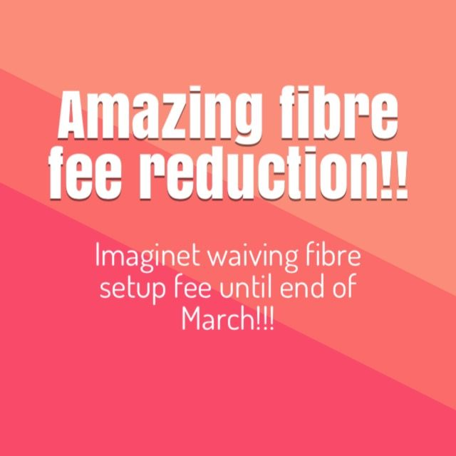 "Imaginet is offering a reduction on fibre for a limited time. The setup fee of  R2500 for  fibre is waived for the rest of this month and the month of March. Take advantage of this offer while it lasts!!!!  Go to our fibre page now.  Why do I need Fibre? It's the new online buzz word… ""Fibre""… and there is good reason it's taking South Africa by storm. We use the internet more than ever before and we want ..."