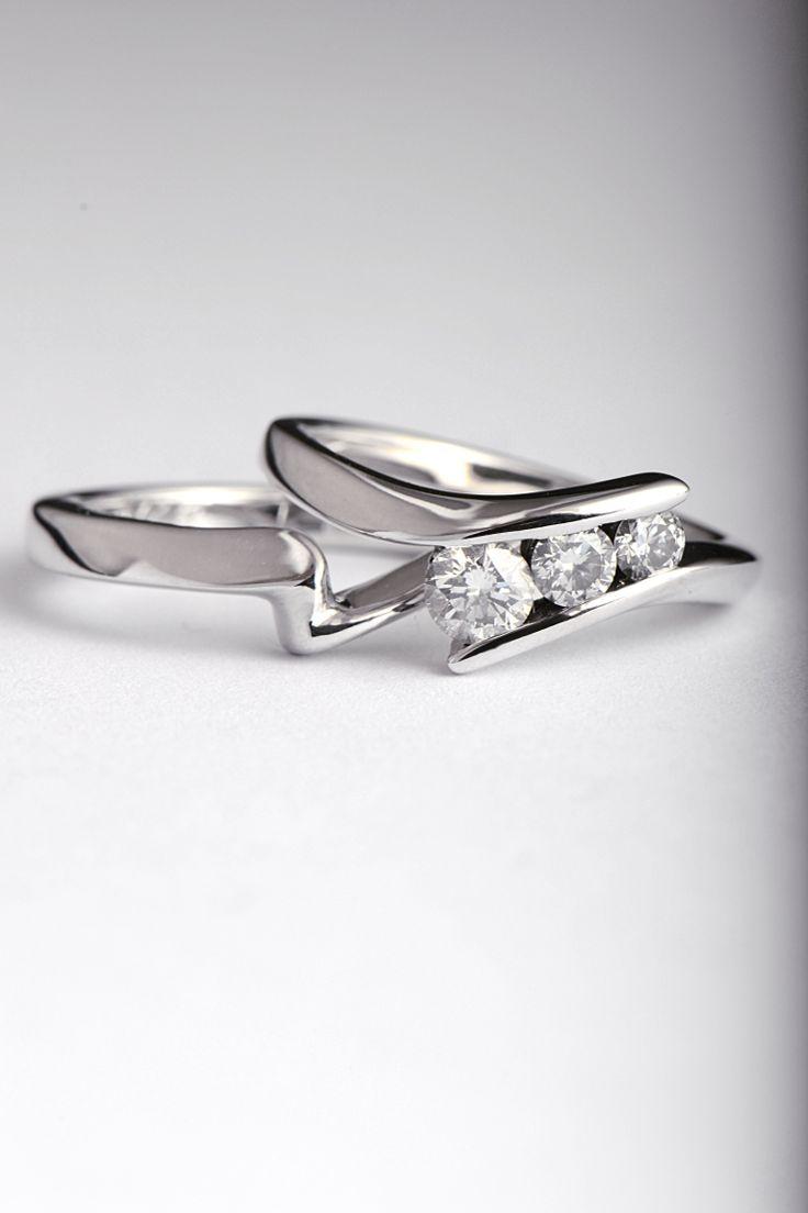 33 best shaped wedding rings images on Pinterest | Wedding bands ...