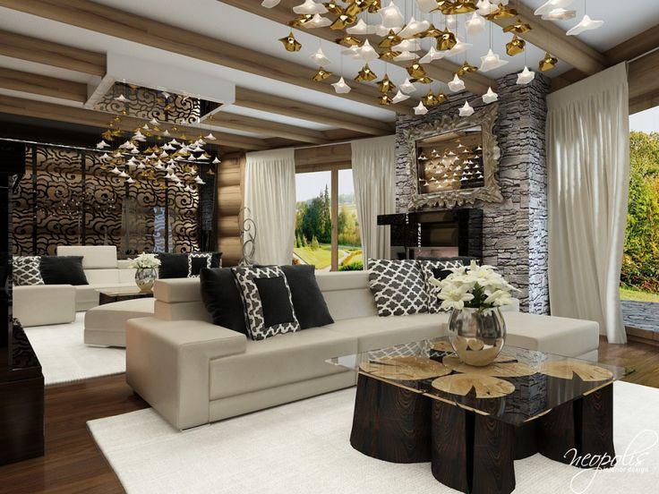Veľká spoločenská miestnosť v glamour štýle