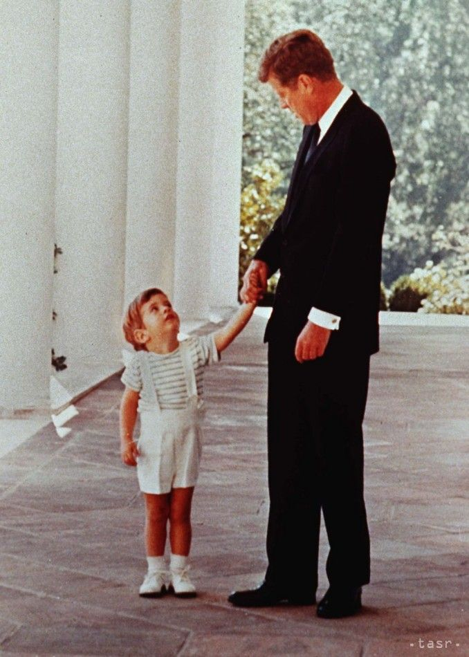John F. Kennedy and John F. Kennedy Jr.. 1963.