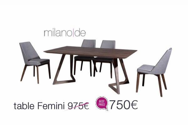 """Γεωμετρικά, κομψά φινιρίσματα σε έναν all around """"αιχμηρό"""" σχεδιασμό. #Τραπέζι Femini από τη Milanode και το #μοντέρνο συναντά το πρακτικό.   https://www.milanode.gr/product/gr/2621/trapezi_femini.html"""