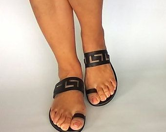 Meander sandalen oude Griekse sandalen door ChicBelleDeJourNew