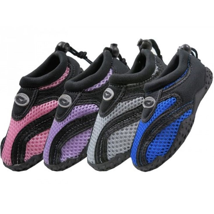 "Wholesale Children's ""Wave"" Aqua Socks , kids water shoes, swimming, beach, pool. Assorted Colors. Sizes: 11-4. Quantity Per Case: 36 Pairs."