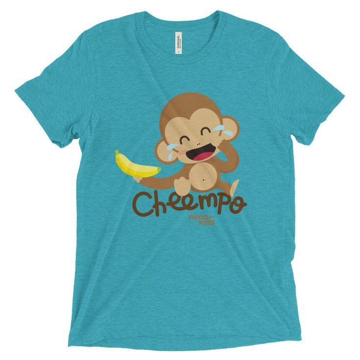 Cheempo - Unisex short sleeve t-shirt    #tshirts #tshirtshop #cheempo #nimakids #janegoodall #nature #endangeredspecies #chimpanzees #animals #cuteanimals #loveanimals #animalrights #animalsaddict #animalslover #animalprotection