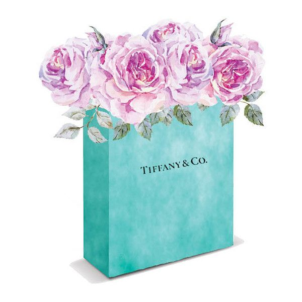 Tiffanys, Blue Box, Tiffanys Bag, Blue Tiffanys Box, Print Tiffanys,... ($13) ❤ liked on Polyvore featuring home, home decor, wall art, blue screen, watercolor painting, blue tote, blue home decor and rose wall art