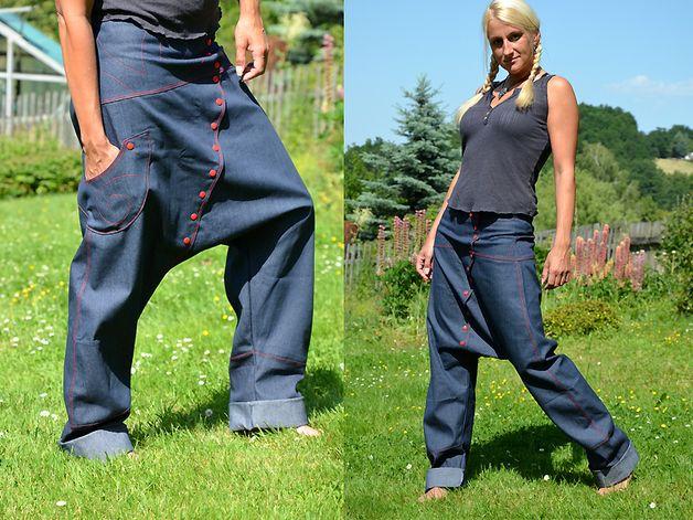 Jeans Sarouel Größe 42 Haremshose rot
