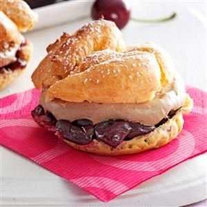 Cherry Chocolate Cream Puffs