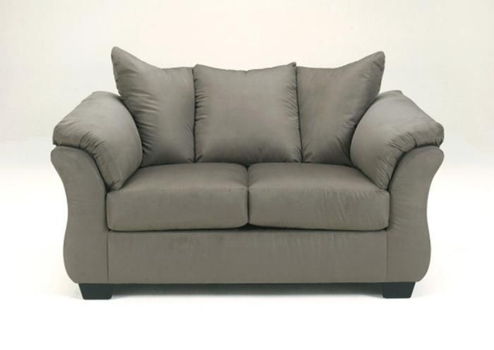 LR85 Cobblestone Loveseat from the Microfiber Collection