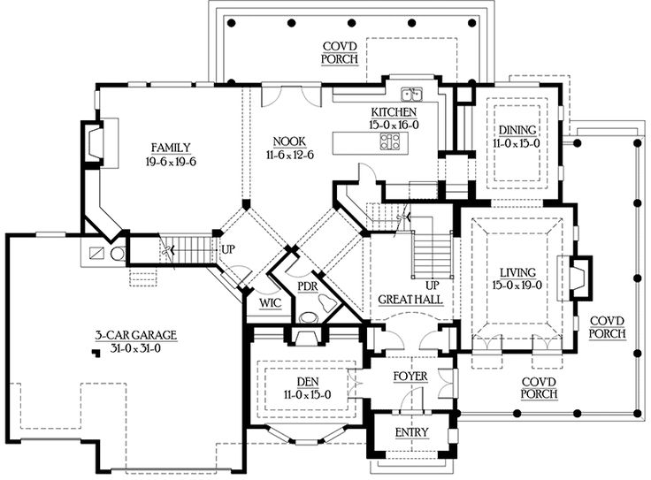 1741 best home floor plans images on pinterest house floor plans architecture and dream house - House plans with bonus rooms upstairs ...
