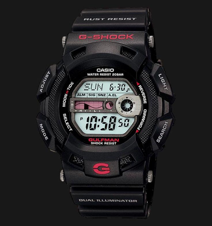 Beli jam tangan Casio G-Shock GULFMAN G-9100-1DR - Daftar Harga jam termurah, review, spesifikasi lengkap Indonesia di Jamtangan.com