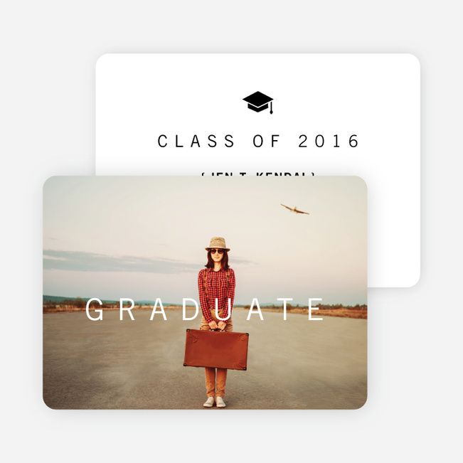 go classy with these modern and eco friendly graduation announcements make a - Make Graduation Invitations