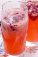 Pau Maui Hawaiian Vodka with pomegranate juice, club soda and lime juice
