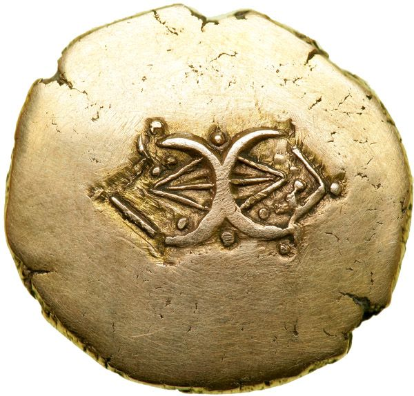 Celtic Coinage. Britain. The Catuvellauni/Trinovantes. Addedomaros. Gold Stater (5.53 g, 20 mm). Late 1st century B.C. - Goldberg Coins and Collectibles