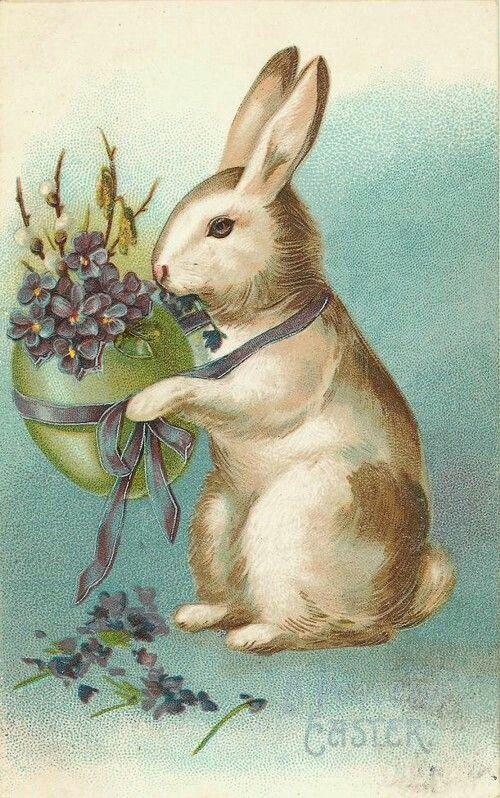 Открытки с пасхальными кроликами, музыкальные открытки