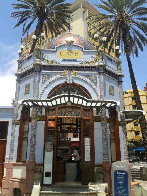 Kiosco modernista en la Plaza de San Telmo. Las Palmas de Gran Canaria (Spain)