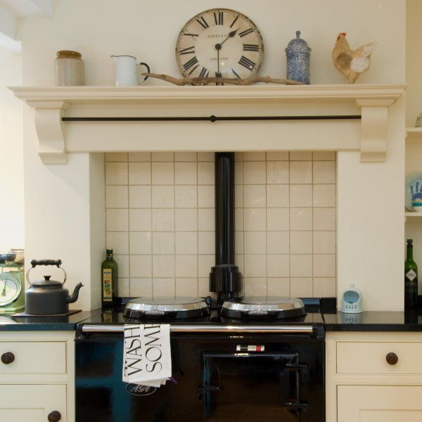 evesham craftesman made aga wooden overmantle range. Black Bedroom Furniture Sets. Home Design Ideas