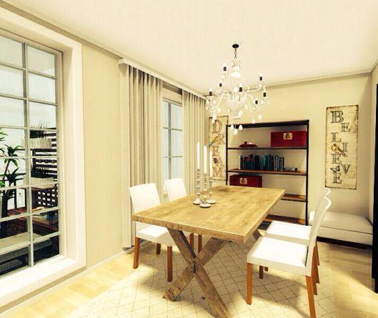 3d floor plans - konstadina nastou decorator-Greece-http://kinteriorsblog.wordpress.com/ #floorplans #roomsketcher #white #dining_room #interiors #decor #cream #red