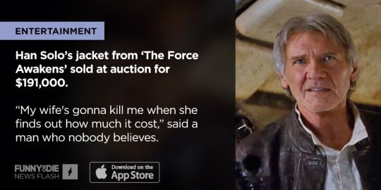 """After 20 Years Kobe Bryant has retired from the NBA, Han Solo's jacket from """"The Force Awakens"""" sold at an auction for $191,000, and more News Flash Stories you might've missed this week."""