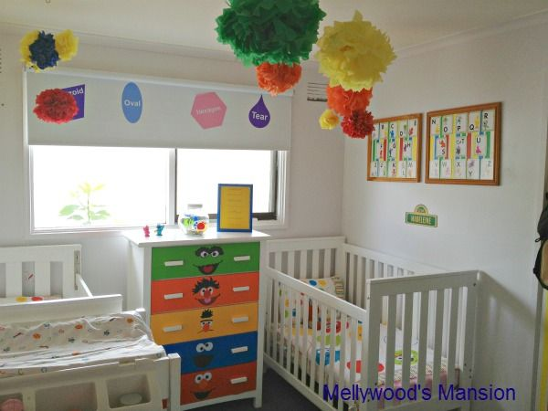 NIce set up. ~    I created this Sesame Street themed nursery for a boy/girl shared room… :: Hometalk