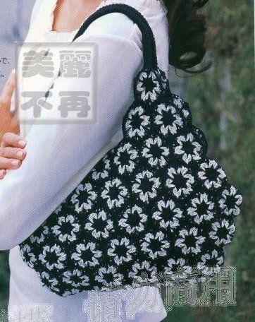 Çiçek motifli örgü çanta ve şeması - enguncelorgu - Blogcu.com