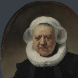 Rembrandt's ability to capture a likeness and a sense of the sitter's character sets him apart from many of his contemporaries. In particular his portrayal of old people, including himself as he aged, was always disarmingly honest. With its loose application of paint this work shows the painter's acute observation and imaginative insight into the mood and the personality of the sitter. This sitter has recently been identified as Aechje Claesdr., widow of the Rotterdam brewer, Jan Dammaszn…