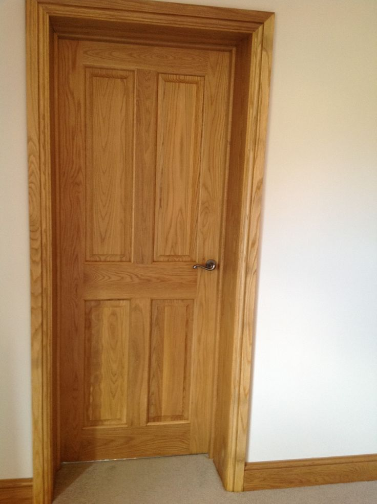 Victorian 4 panel door solid oak four panel solid oak for Solid oak doors