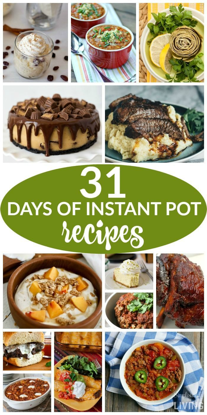31 Days of Instant Pot Recipes Simplistically Living