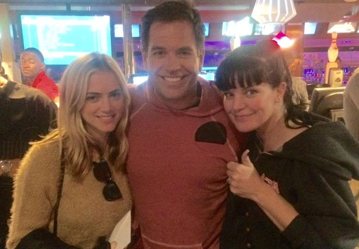 """Touché' Em!!! NCIS wrap party with two people I love!!!"""