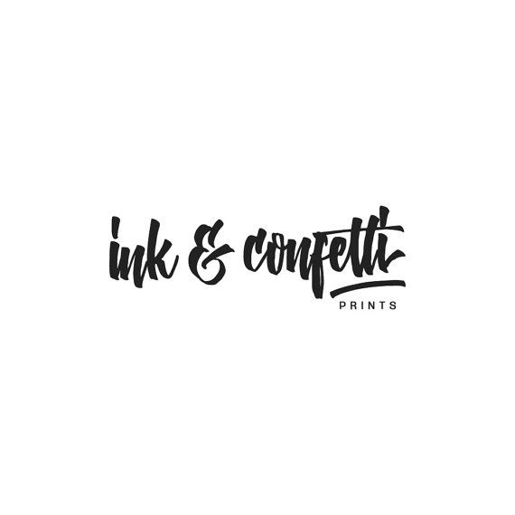 Ink & Confetti - Prints // Do you like this custom logo? Request your one…
