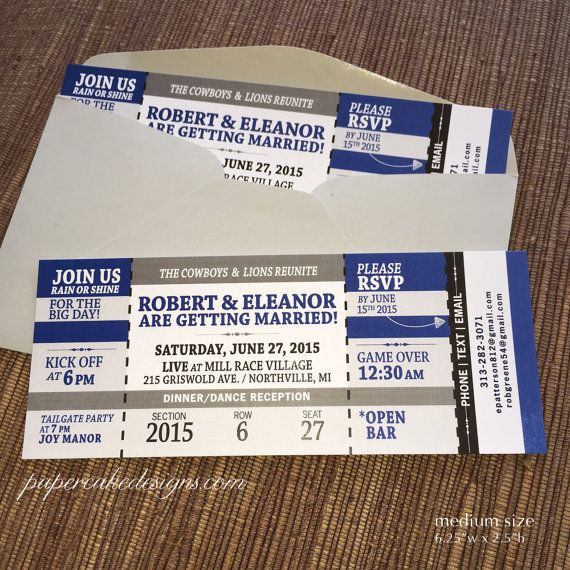 129 best Etsy Shop Papercake Designs images on Pinterest - concert ticket invitations
