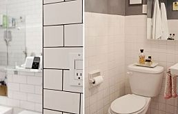 Pros & Cons: Dark Grout in the Bathroom also links to How to Choose Grout Color - Sanded, grey, epoxy grout