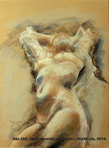 Martin Künne, Pastellkreide auf Papier, 48x36 cm, 2016. nude, akt, frau,