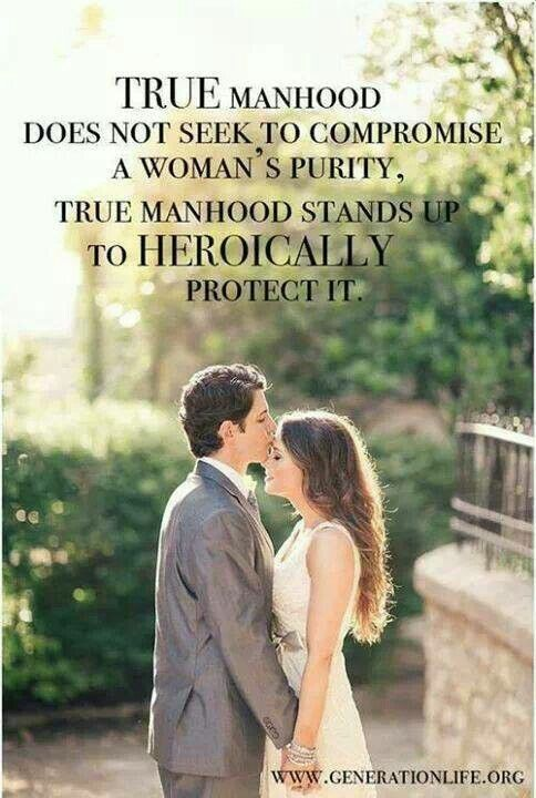 True manhood ... as it relates to purity.:
