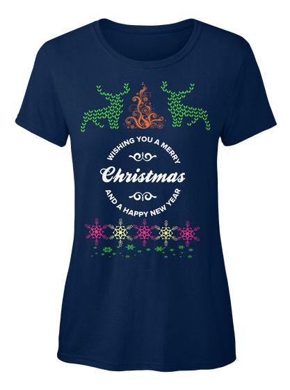 Funny Christmas T Shirts Uk Navy T-Shirt Front