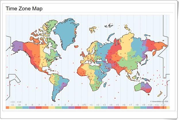 """""""Time Zone Map"""" de timeanddate.com (Mapa interactivo de husos horarios)"""