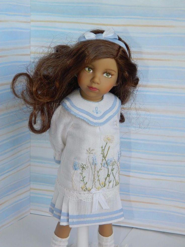 Добро пожаловать! Предлагаем наряд для куклы высотой 30-35см винтажном стиле. Подойдет Голубка Дианна Эффнер, Мини-Мара. Наряд Ручной работы, единственный в своем роде. Наряд включает в себя платье, повязку на волосы, носки, обувь. | ибее!