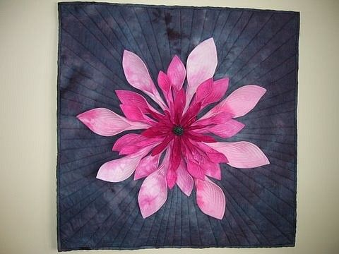 3-d Quilting: Ontario Canada, Liter 3D, Quilts Galleries, Canada Blog, Jackie Jumbl, 3D Flower, Dyed Fabrics, Hands Dyed, Beads Heavili