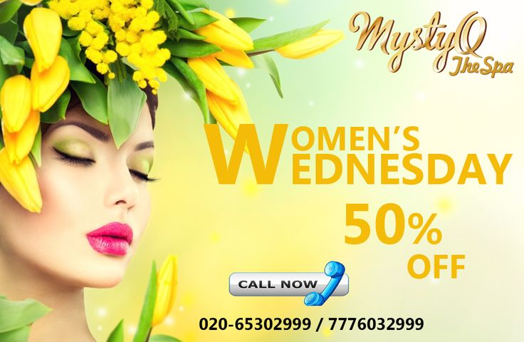 Wow! Wednesday Offer. Get 50% off on any spa treatment. The greatest gift you can give someone is your time, love and a spa-day!! Present your loved one with MystyQ Spa Gift Vouchers for a perfect relaxation day with us. Hurry up call Now 020 65302999 / +91 7776032999  #women #ladies #girlfriend #Wednesday #offer #spa #pune #spainpune #bestspa  https://www.facebook.com/mystyqspa/ http://www.mystyqspa.in