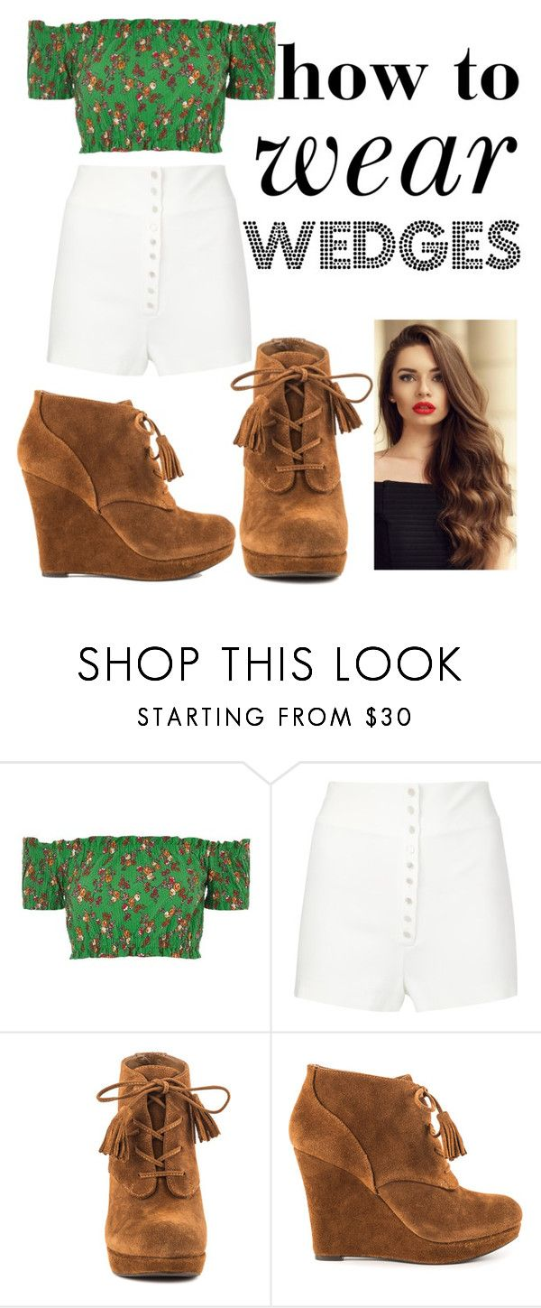 """How to Wear Wedges"" by churchgirl1205 ❤ liked on Polyvore featuring Topshop, Calvin Klein Collection and Jessica Simpson"