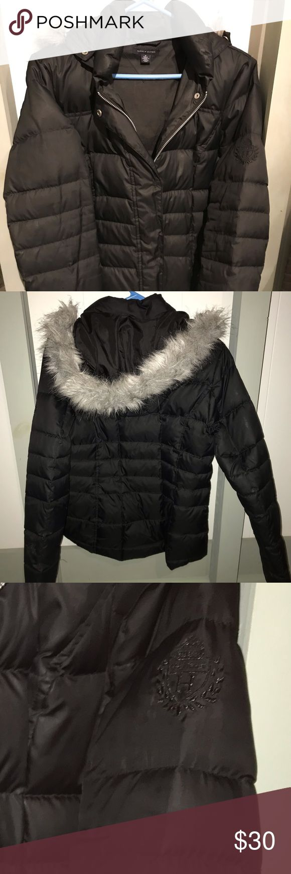 Tommy Hilfiger Bubble Coat with fur trimmed hood Bubble