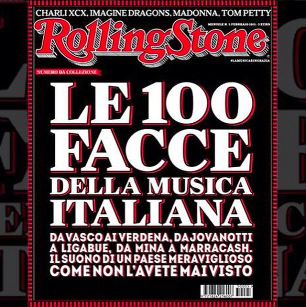 """Giovanni Gastel was chosen to shoot the full March issue of Rolling Stone Italia """"100 Faces of Italian Music"""""""