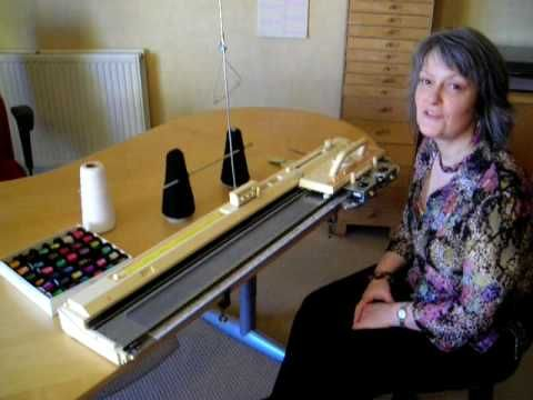 This video shows how easy it is to knit with wire on a knitting machine. It only takes a couple of minutes to knit a short strip which will be made into an e...
