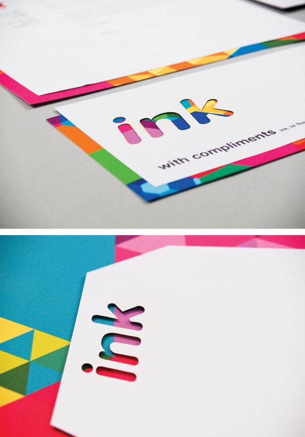 A full identity, packaging and product development brief. Ink is a stationery shop, at the heart of which is the concept of colour application. Using laser cutting techniques, an identity was created which applies colour without directly using it within a logo or identity.