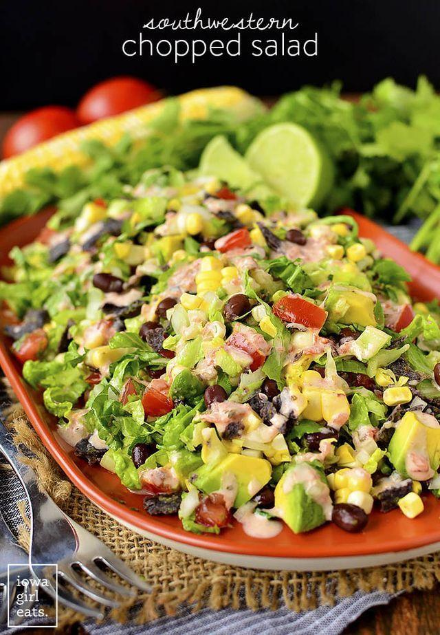 Southwestern Chopped Salad | Iowa Girl Eats | Bloglovin'
